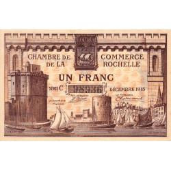 La Rochelle - Pirot 66-3a - Série C - 1 franc - 1915 - Etat : SUP+