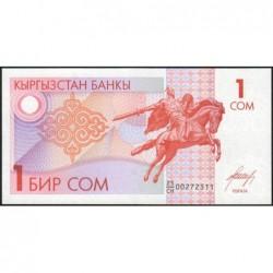Kirghizistan - Pick 4 - 1 som - série CH - 1993 - Etat : NEUF