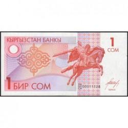 Kirghizistan - Pick 4 - 1 som - série CH - 1993 - Etat : pr.NEUF