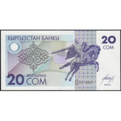 Kirghizistan - Pick 6 - 20 som - série CH - 1993 - Etat : NEUF