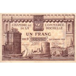 La Rochelle - Pirot 66-3 - 1 franc - Série D - 10/1915 - Etat : TTB