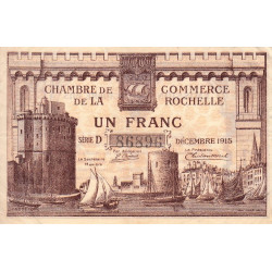 La Rochelle - Pirot 66-3a - Série D - 1 franc - 1915 - Etat : TTB