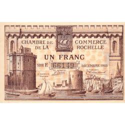 La Rochelle - Pirot 66-3 - 1 franc - Série E - 10/1915 - Etat : SUP