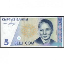 Kirghizistan - Pick 8 - 5 som - série AA - 1994 - Etat : NEUF