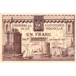 La Rochelle - Pirot 66-3a-F - 1 franc - 1915  - Etat : SUP+