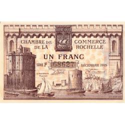 La Rochelle - Pirot 66-3a - Série F - 1 franc - 1915 - Etat : SUP+