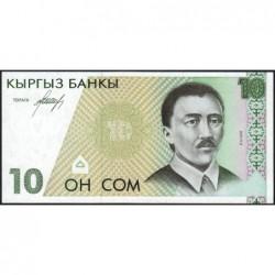 Kirghizistan - Pick 9 - 10 som - série AC - 1994 - Etat : NEUF