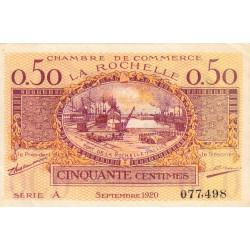 La Rochelle - Pirot 66-7 - 50 centimes - Série A - 09/1920 - Etat : SPL