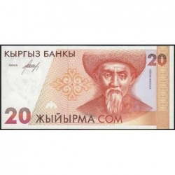 Kirghizistan - Pick 10 - 20 som - série AB - 1994 - Etat : NEUF