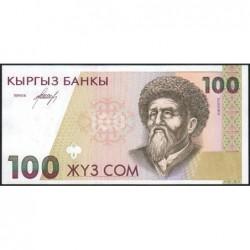 Kirghizistan - Pick 12 - 100 som - série AD - 1994 - Etat : NEUF