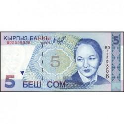 Kirghizistan - Pick 13 - 5 som - série BD - 1997 - Etat : NEUF