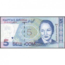Kirghizistan - Pick 13 - 5 som - série BK - 1997 - Etat : NEUF