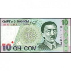 Kirghizistan - Pick 14 - 10 som - série BB - 1997 - Etat : NEUF