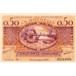 La Rochelle - Pirot 66-7 - 50 centimes - Série B - 09/1920 - Etat : SUP