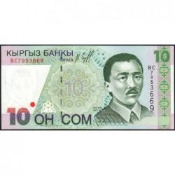 Kirghizistan - Pick 14 - 10 som - série BC - 1997 - Etat : NEUF