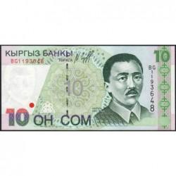 Kirghizistan - Pick 14 - 10 som - série BG - 1997 - Etat : NEUF