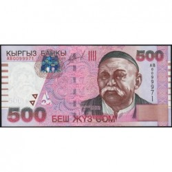 Kirghizistan - Pick 17 - 500 som - série AB - 2000 - Etat : NEUF