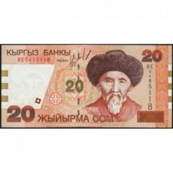 Kirghizistan - Pick 19 - 20 som - série BE - 2002 - Etat : NEUF