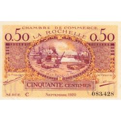 La Rochelle - Pirot 66-7 - 50 centimes - Série C - 09/1920 - Etat : SUP