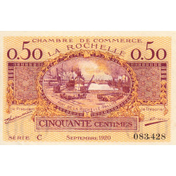La Rochelle - Pirot 66-7 - Série C - 50 centimes - 1920 - Etat : SUP