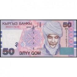 Kirghizistan - Pick 20 - 50 som - série BB - 2002 - Etat : NEUF