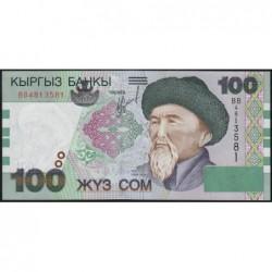 Kirghizistan - Pick 21 - 100 som - série BB - 2002 - Etat : NEUF