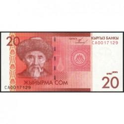 Kirghizistan - Pick 24a - 20 som - série CA - 2009 - Etat : NEUF