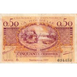 La Rochelle - Pirot 66-7 - 50 centimes - Série D - 09/1920 - Etat : TB+
