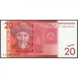Kirghizistan - Pick 24a - 20 som - série CI - 2009 - Etat : NEUF