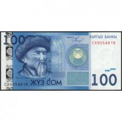 Kirghizistan - Pick 26a - 100 som - série CA - 2009 - Etat : NEUF