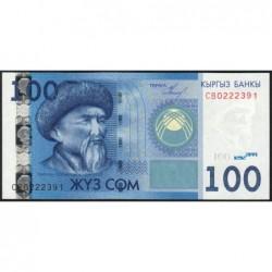 Kirghizistan - Pick 26a - 100 som - série CB - 2009 - Etat : NEUF