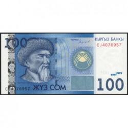 Kirghizistan - Pick 26b - 100 som - série CJ - 2016 - Etat : NEUF