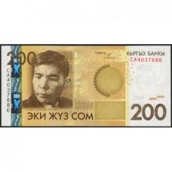 Kirghizistan - Pick 27a - 200 som - série CA - 2010 - Etat : NEUF