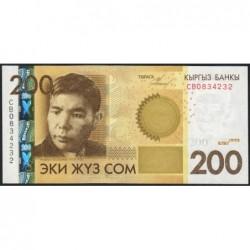 Kirghizistan - Pick 27a - 200 som - série CB - 2010 - Etat : NEUF