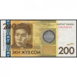 Kirghizistan - Pick 27b - 200 som - série CH - 2016 - Etat : NEUF