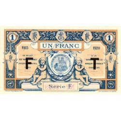 Aurillac (Cantal) - Pirot 16-8a - Série F - 1 franc - 1915 - Etat : NEUF