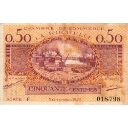 La Rochelle - Pirot 66-7-F - 50 centimes - 1920  - Etat : TB