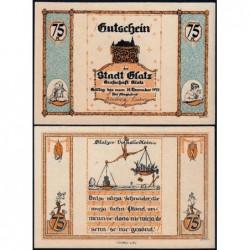 Pologne - Notgeld - Glatz (Klodzko) - 75 pfennig - 1921 - Etat : SPL+