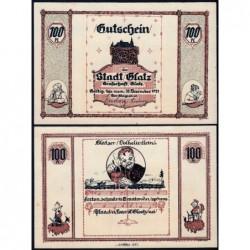 Pologne - Notgeld - Glatz (Klodzko) - 100 pfennig - 1921 - Etat : SPL+