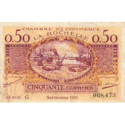 La Rochelle - Pirot 66-07-G - 50 centimes - Etat : TB+
