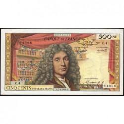 F 60-02 - 07/04/1960 - 500 nouv. francs - Molière - Série C.4 - Etat : TTB