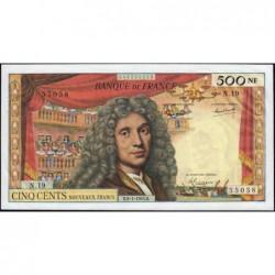 F 60-08 - 08/01/1965 - 500 nouv. francs - Molière - Série N.19 - Etat : TTB+