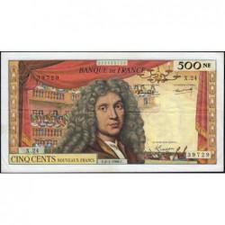 F 60-09 - 06/01/1966 - 500 nouv. francs - Molière - Série X.24 - Etat : TB