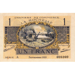 La Rochelle - Pirot 66-9-A - 1 franc - 1920  - Etat : SUP