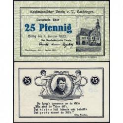 Allemagne - Notgeld - Gardelegen - 25 pfennig - 01/01/1921 - Etat : NEUF