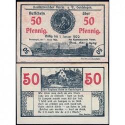 Allemagne - Notgeld - Gardelegen - 50 pfennig - 01/01/1921 - Etat : NEUF