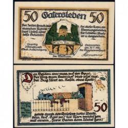 Allemagne - Notgeld - Gatersleben - 50 pfennig - 30/07/1921 - Etat : SPL