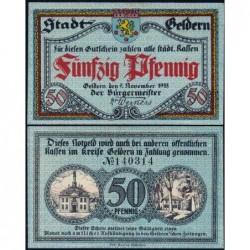 Allemagne - Notgeld - Geldern - 50 pfennig - 09/11/1918 - Etat : SPL+