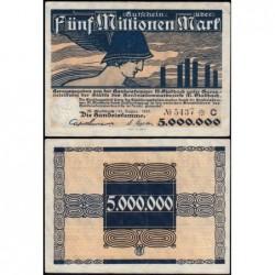 Allemagne - Notgeld - M.Gladbach (Mönchengladbach) - 5 millions mark - Série C - 25/08/1923 - Etat : TTB