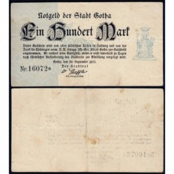 Allemagne - Notgeld - Gotha - 100 mark - Type 1 - 30/09/1922 - Etat : TTB